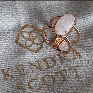 Kendra Scott NWOT Silver & Iridescent Drusy Ring 7